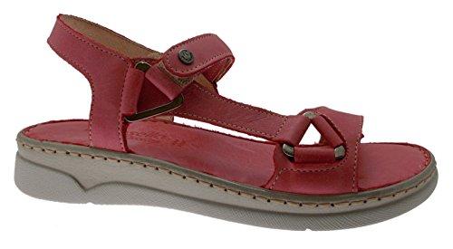 Ouvert Souple Rouge 40709 Sandale Mémoire Semelle Rose XqxUSd