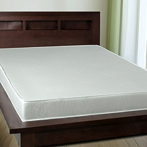 Orthofoam 6 inch Memory Foam Mattress with All White 100% Cotton Cover (QUEEN)