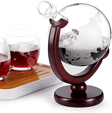 UPKOCH Botella de Vino Decanter para Vino Mini Aireador de Cristal de 850 ml con Whisky Aireador con portabotellas Alcool Vodka Liquore Versador de Bar