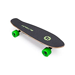 "Blitzart Mini Flash 28"" Electric Skateboard Electronic Hub-Motor 2.8"" Wheel E-Skateboard (Green)"