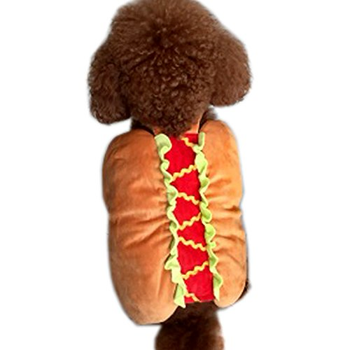 [Alfie Pet by Petoga Couture - Curry the Hotdog Costume - Size: M] (Maltese Dog Costumes)