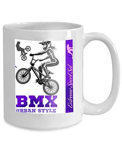 mug coffee tea cup bmx extreme bike street style bmx cyclyst white ()