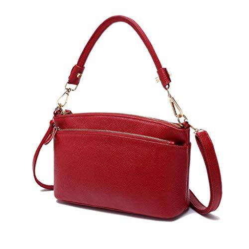 De Mujer De Bolso La Suaves Hombro Bolsos La De Crossbody Red Red del Bolso del Bolso Cruzado Moda Color De w604cqXZ