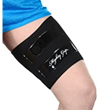 Mighty Grip Black Inner Thigh Protectors for Pole Dancing with Tack Strips (1 Pair)