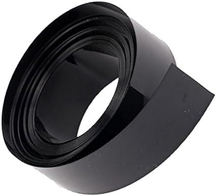TOOGOO Tube de retrecissement de la chaleur de PVC de la largeur 8M de longueur plate de 75mm noir pour des batteries 18650