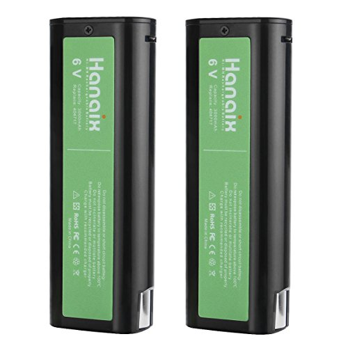 Hanaix 2pcs 6V 3.0Ah Battery for Paslode 404717 B20544E BCPAS-404717 404400 900400 900420 900421 900600 901000 902000 B20720 CF-325 IM200 IM250 IM250A IM350A PS604N, Ni-MH -