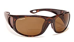 Coyote BP-17 Reading Sunglasses Polarized Bi-focal in Tortoise & Brown
