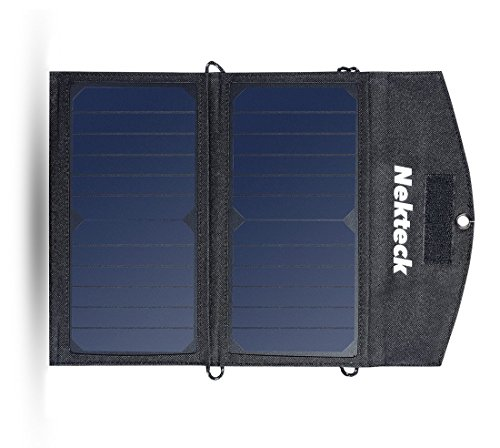 14W Solar Charger With 2-Port USB High Efficiency Solar Panel Cell made our list of camping gifts couples will love and great gifts for couples who camp