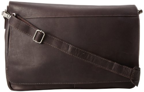 Piel Leather Professional Laptop Messenger, Chocolate, One Size by Piel Leather