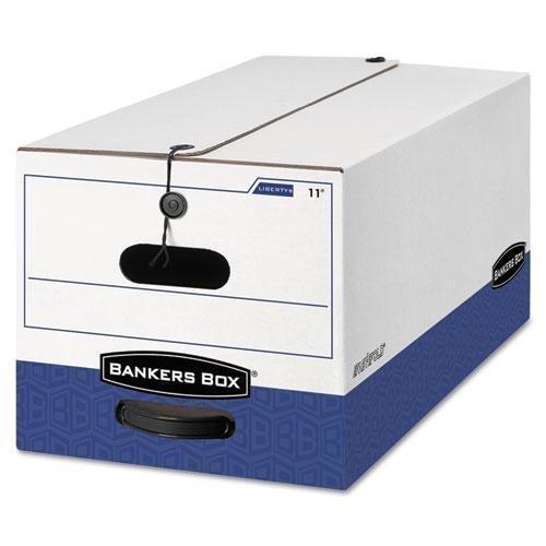FELLOWES Manufacturing 22 Liberty Storage Box, Record Form, 9-1/2 x 23-1/4 x 6, White/Blue, 12/Carton