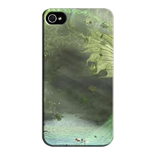 Mountain Morning Nature For Iphone 4 Case Cover Gray KbzMwpjWl
