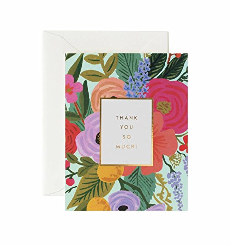 Garden Party Thank You Note Cards by Rifle Paper Co. -- Set of 8 Cards and Envelopes