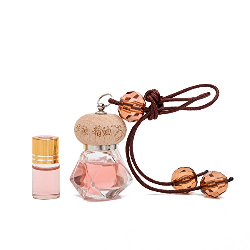 (THY COLLECTIBLES Fragrance Oil Aromatic Perfume Oil Locket Pendant- Coco Scent 10ML Prefilled Elegant Quadrangle Glass Bottle And An Extra 3ML Refill-Nice Hanging Decoration Display For Home Or Car)