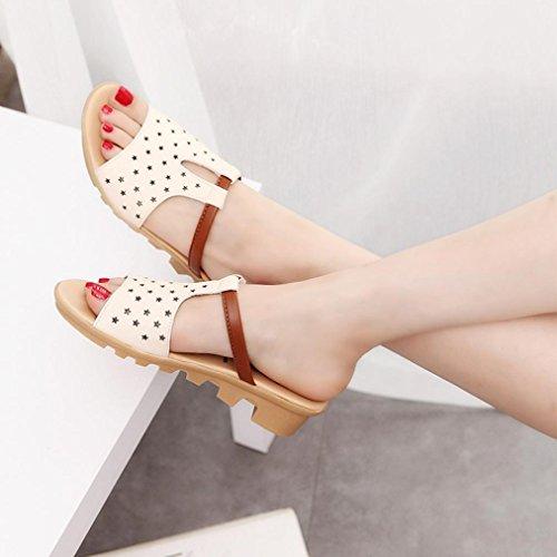Elevin (tm) Donna Estate Moda Tagliata Peep-toe Piattaforma Scivoli Pantofole Sandali Scarpe Bianche 1