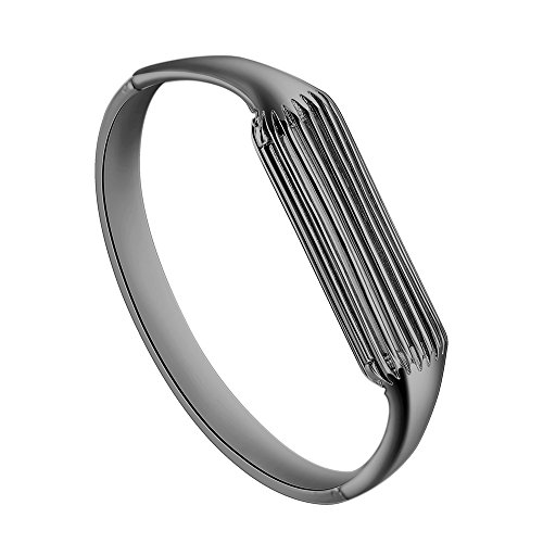 "Aresh Compatible Fitbit Flex 2 Bangle, Accessory Bracelet Band Compatible with Fitbit Flex 2, for Wrist Size: 6.3""-6.5"" (Black-Small) from Aresh"