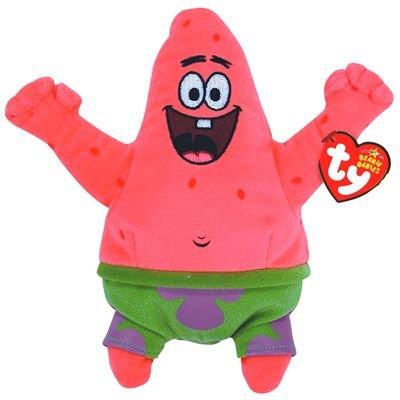Ty Beanie Babies Patrickstar Best Day Ever (Spongebob Stuffed Animals)