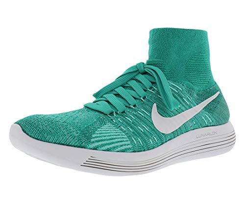 Nike Womens Lunarepic Flyknit Fabric Low Top Pull On Running, Green, Size 8.5