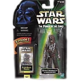 (Star Wars POTF Action Figure with Flashback Photo - Hoth Chewbacca)
