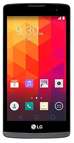 LG Leon Smartphone (11,43 cm (4,5 Zoll) IPS-Display, 1,3-GHz-Quad-Core-Prozessor, 5 Megapixel-Kamera, 8 GB interner Speicher, Android 5.0) titan