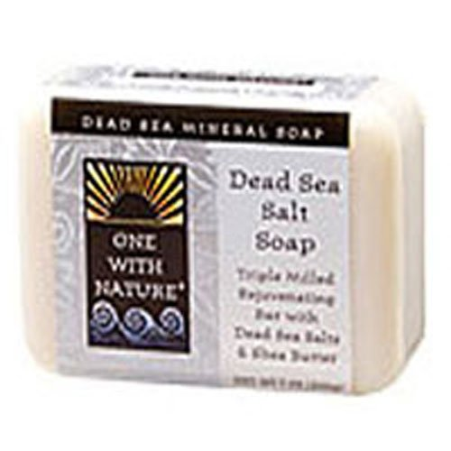 One With Nature Dead Sea Mineral Soap, Dead Sea Salt, 7-Ounces (Pack of 6) ()