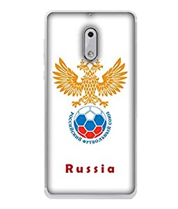 ColorKing Football Russia 23 White shell case cover for Nokia 6