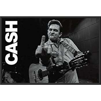 Amazon.com: Johnny Cash (Middle Finger 2) Music Poster Print 36x24 ...