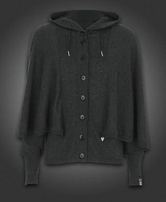 fbca7432f0ee9f Gio Goi Womens KORA Grey Marl Knit Hooded Batwing Cardigan UK 8:  Amazon.co.uk: Clothing