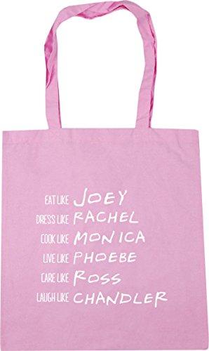 Chandler Gym Monica 42cm Ross Joey 10 litres Pink x38cm Be HippoWarehouse Tote Rachel like Beach Phoebe Bag Shopping Classic CH4YBqF