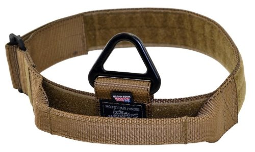 Signature K9 Adjustable Nylon Handle Collar, 1-3/4 x 14-22-Inch, Coyote Brown