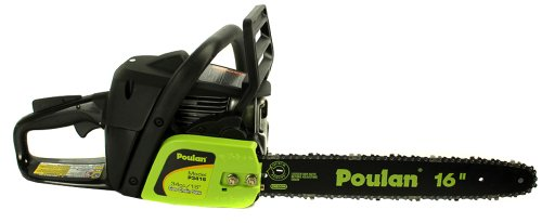 "Poulan PP3416 16"" 34CC 2 Cycle Gas Powered Chain Saw Home/Tree Chainsaw Oiler"