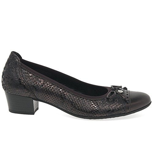 Gabor Shoes Comfort Fashion, Escarpins Femme Marron (Ebano/Aubergine 61)