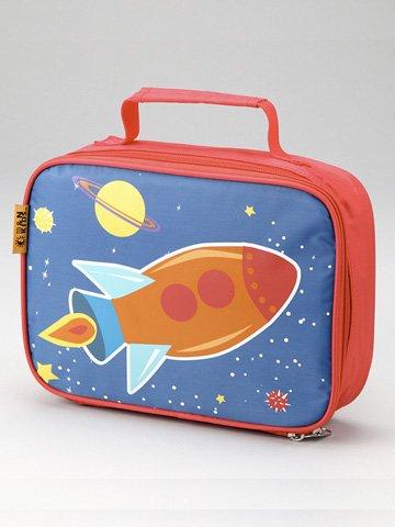 D And N Kids School Children Daycare Whimsical Design Rocket Lunch Bag