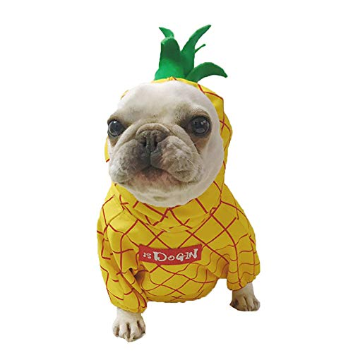 ROZKITCH Pineapple Pet Costume, Pet Dogs Cosplay Coat for Party Christmas Special Events Costume]()
