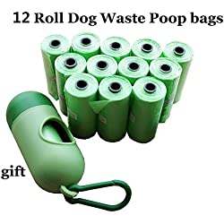 HIGHUP Pooper Scoopers & Bags - Quality 42 Rolls Dog Waste Bags with 2 Dispenser and Leash Clip Poop Bag Pet Durable Refill Rolls Black Pooper Scoopers 1 PCs