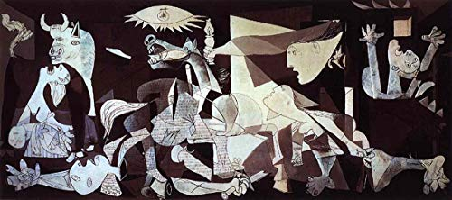 Handpainted Reproduction Pablo Picasso 200X90 cm (Approx. 80X36 inch) - Guernica 1937 Abstract Paintings Canvas Wall Art Poster Rolled