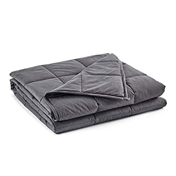 Image of beddingking Weighted Blanket 15lbs (60''x80'', Grey, Queen Size) for Adults and Kids Heavy Blanket Cooling Cotton 100% Cotton Material with Glass Beads beddingking B07RXH8JYG Weighted Blankets