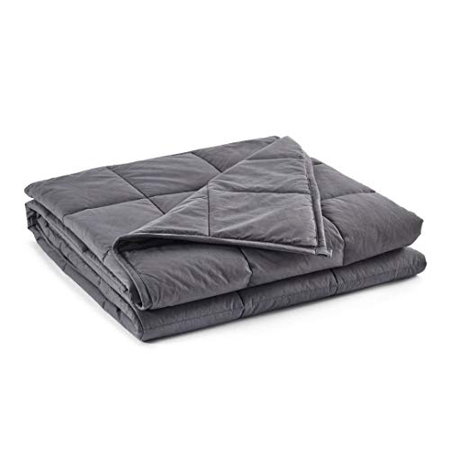 Cheap beddingking Weighted Blanket 12lbs (48 x72 Grey Twin Size) for Adults and Kids Heavy Blanket Cooling Cotton 100% Cotton Material with Glass Beads Black Friday & Cyber Monday 2019