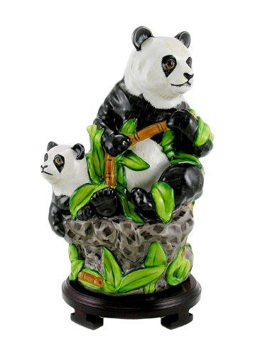 Large Lynn Chase Porcelain Figurine - Panda Bear and Baby...
