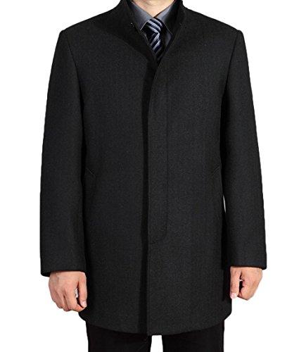 Tongzemeng Men's Wool Jackets Spring Autumn Men Woolen Coats Middle Long Jackets And Coats Mens Warm Wool Overcoat XL (Slutty Sailor)