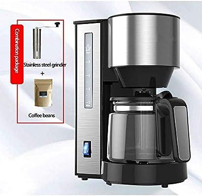 Jsmhh Filtro de café de la máquina, un Toque de Goteo cafeteras automáticas de Aislamiento Anti-Goteo Diseño Filtro Desmontable y Embudo 1.25L Espacio Compacto for el Amante del café: Amazon.es: Hogar
