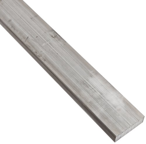 2024 Aluminum Rectangular Bar, Unpolished (Mill) Finish, T351 Temper, Meets ASTM B211, 1/2