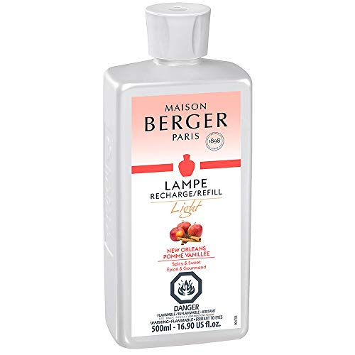 Light New Orleans | Light Collection | Lampe Berger Fragrance Refill for Home Fragrance Oil Diffuser | Purifying and perfuming Your Home | 16.9 Fluid Ounces - 500 milliliters | Made in France