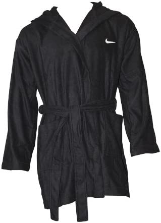 Nike hombre corto albornoz con capucha de algodón negro Talla:small: Amazon.es: Deportes y aire libre