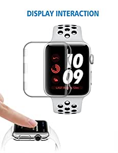 Apple Watch Screen Protector 38mm | iwatch Series 3 Face Case | Plastic Protective Cover | Clear Defender | Thin Accessories Bumper by ZECEEN