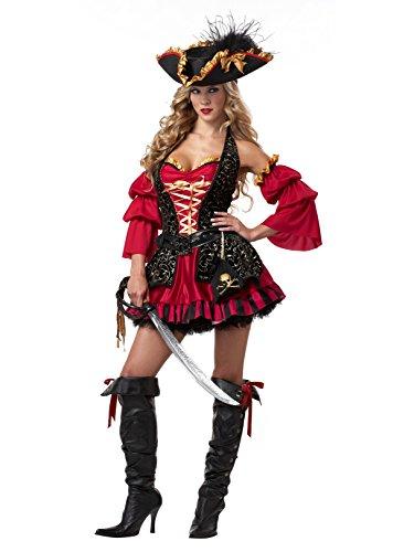 Womens Sexy Spanish Pirate Costume (XL) -
