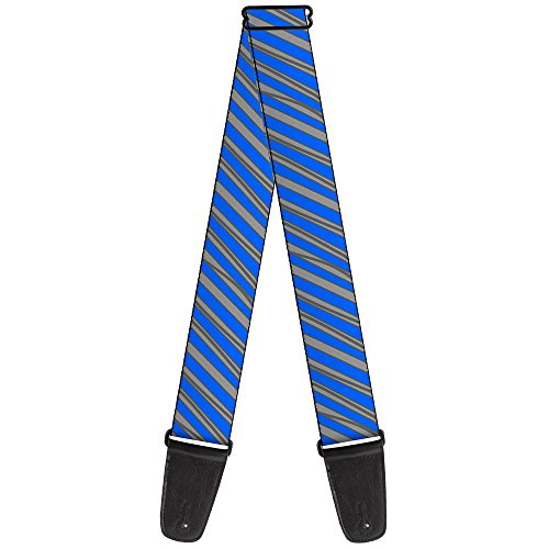 (Buckle-Down 2 Inches Wide Guitar Strap - Diagonal Stripes Scribble Gray/Blue (GS-W30458))