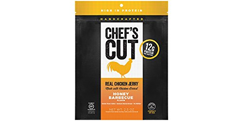 Chef's Cut Real Chicken Jerky, Honey Barbecue, 2.5 Ounce (Pack of 4)