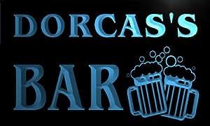 w071434-b DORCAS Name Home Bar Pub Beer Mugs Cheers Neon Light Sign