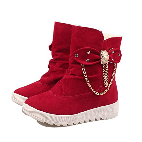 HOESCZS Damenschuhe Winter New Cotton Stiefel Damen Tube Bow Schneestiefel Warm Cold Feet Damen Stiefel B07JK5C6RT Sport- & Outdoorschuhe Verkauf neuer Produkte