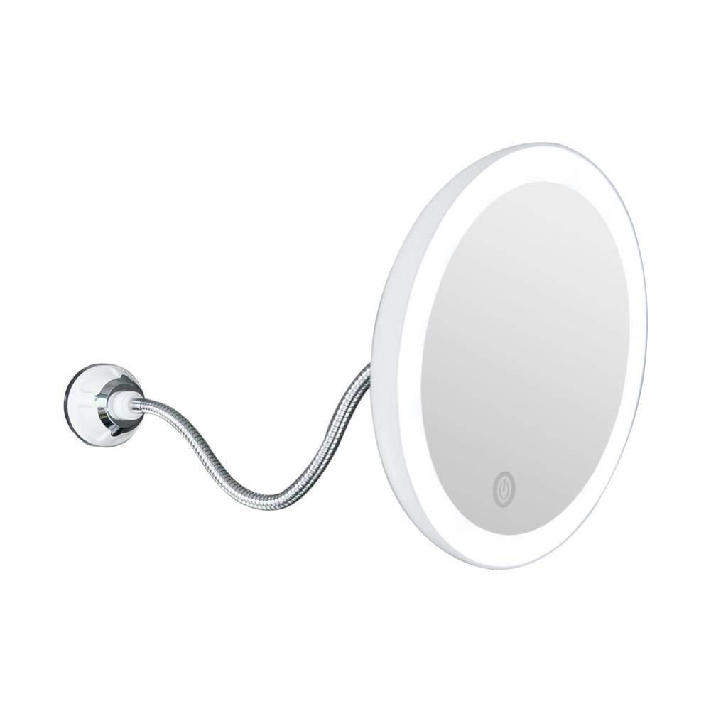 Makeup Mirror 360 Rotation 10X Magnifying LED Fogless Suction Cup Shower Shave Make Up Fog Light